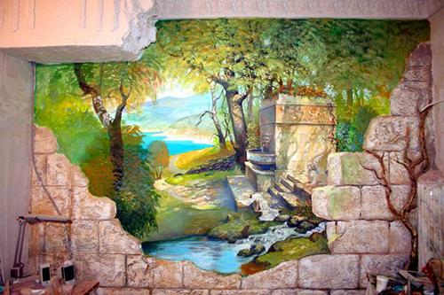 роспись стен в интерьере цена крым