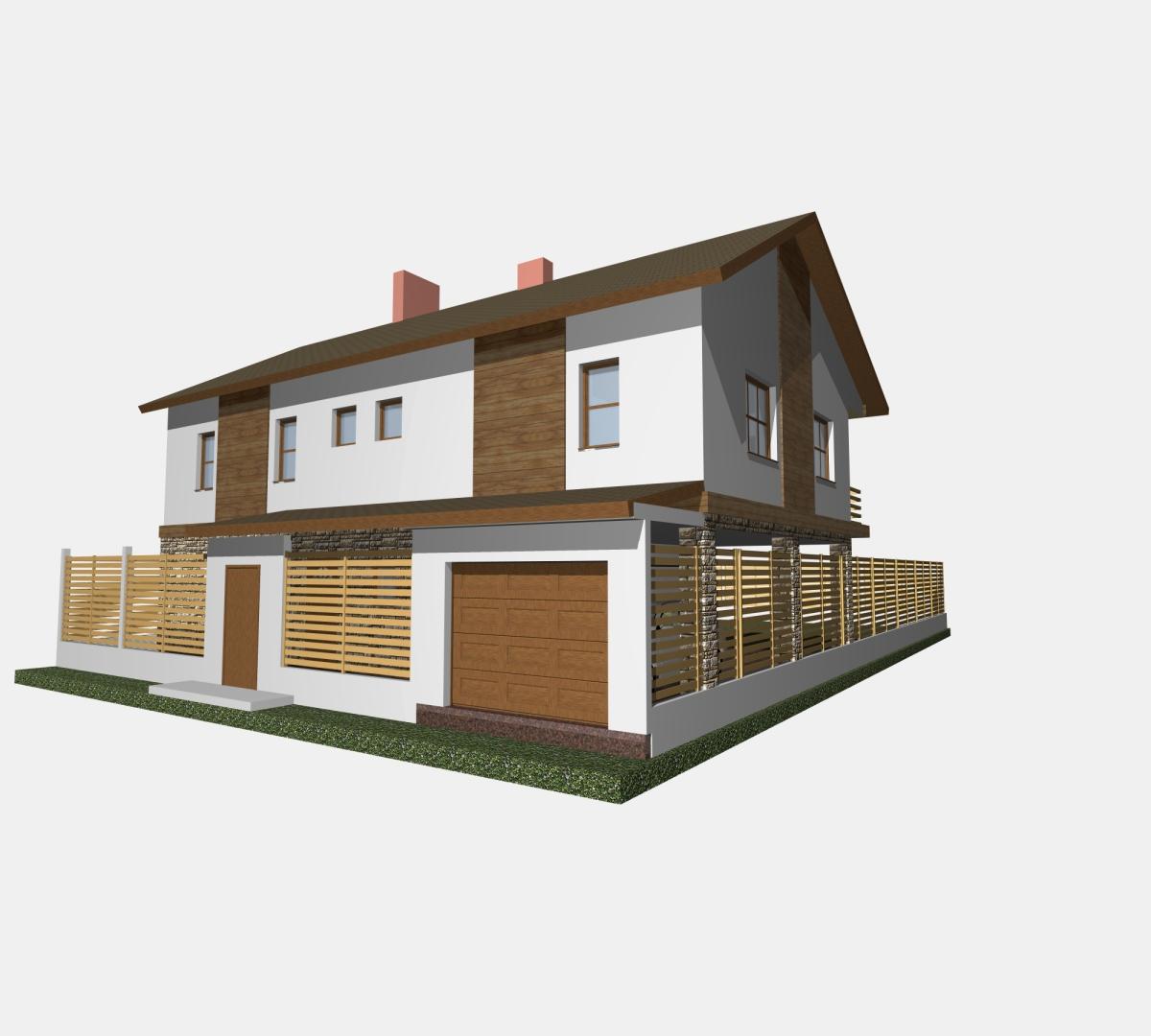 Загородный дом для молодой семьи.